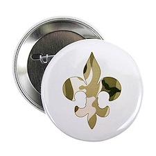 """Fleur de lis Camo 2.25"""" Button (10 pack)"""