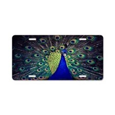 Cobalt Blue Peacock Aluminum License Plate