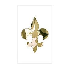Fleur de lis Camo Rectangle Decal