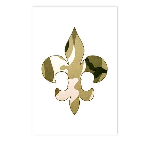 Fleur de lis Camo Postcards (Package of 8)
