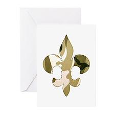 Fleur de lis Camo Greeting Cards (Pk of 10)