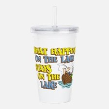 stays on lake.png Acrylic Double-wall Tumbler