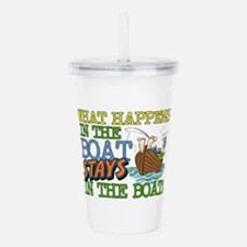 STAYS IN THE BOAT Acrylic Double-wall Tumbler