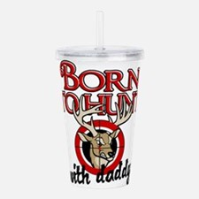 born to hunt2.png Acrylic Double-wall Tumbler