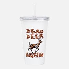 Dead Deer Walking Acrylic Double-wall Tumbler