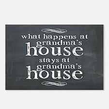 What Happens At Grandmas Chalkboard Postcards (Pac