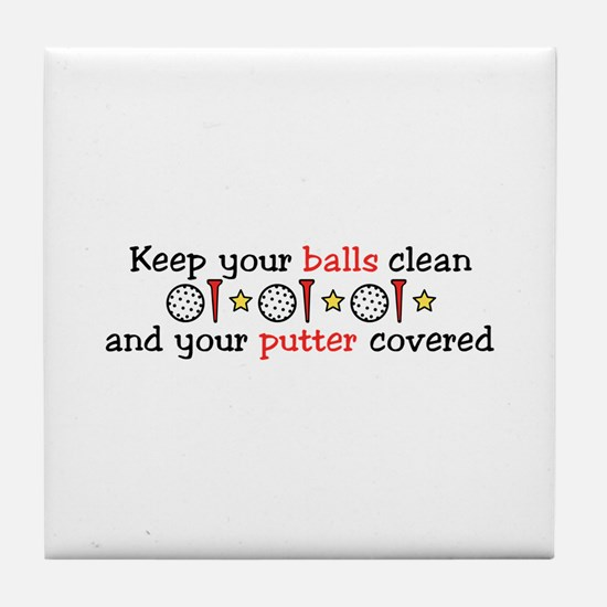 Putter Covered Tile Coaster