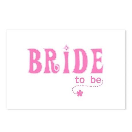 Bride to Be Pink Postcards (Package of 8)
