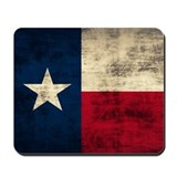 Texas flag Mouse Pads