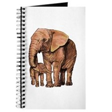 Cute Elephant mother and baby Journal