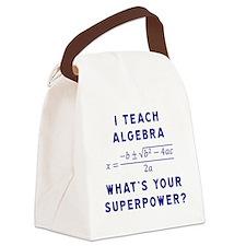 Cute Algebra Canvas Lunch Bag