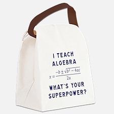 Cute Algebra teacher Canvas Lunch Bag