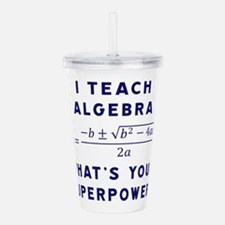 Unique Math teacher Acrylic Double-wall Tumbler