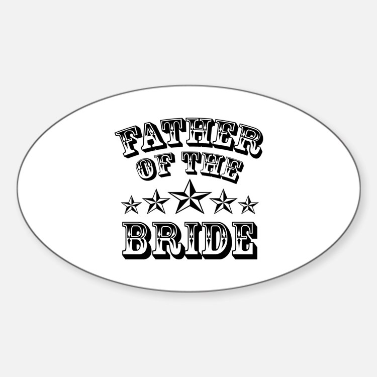 Cool Father Of The Bride Wedding Sticker (oval)