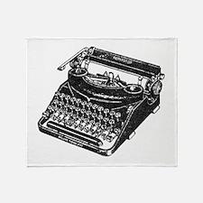 Unique Typewriter Throw Blanket