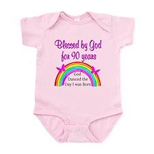 BLESSED AT 90 Infant Bodysuit