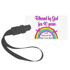 BLESSED AT 90 Luggage Tag