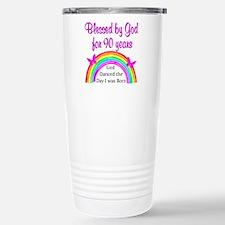 BLESSED AT 90 Travel Mug