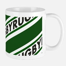 Rugby Striped green white Mugs