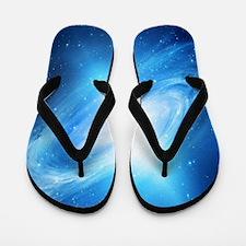 Blue Galaxy Flip Flops