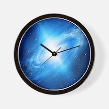 Blue Galaxy Wall Clock