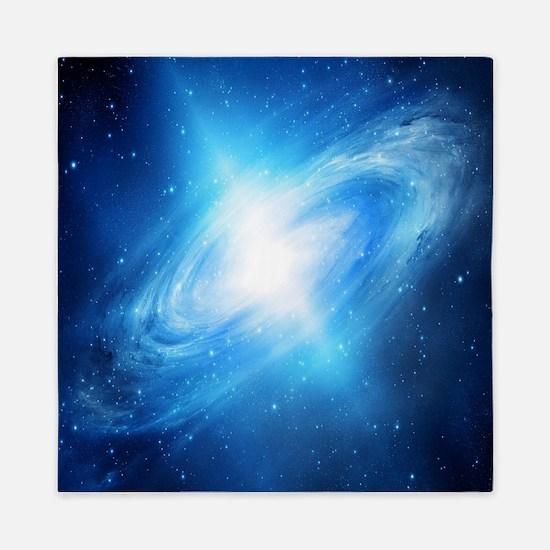Blue Galaxy Queen Duvet