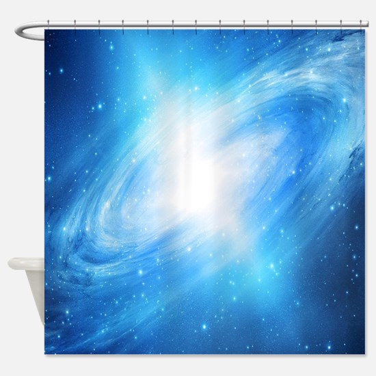 Blue Galaxy Shower Curtain