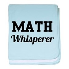 Math whisperer baby blanket
