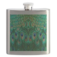 Peacock Feathers Flask