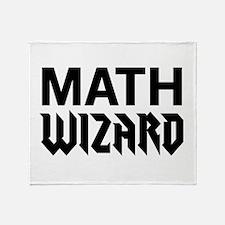 Math wizard Throw Blanket