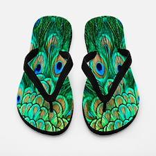 Peacock Feathers Flip Flops