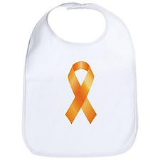 Cute Multiple sclerosis orange ribbon Bib