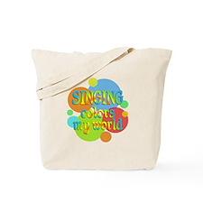 Singing Colors My World Tote Bag