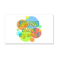 Singing Colors My World Car Magnet 20 x 12