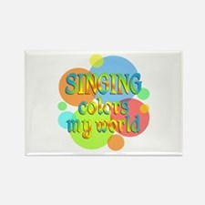 Singing Colors My World Rectangle Magnet