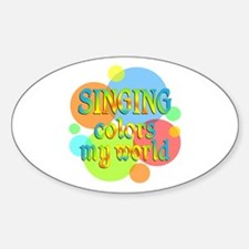 Singing Colors My World Decal