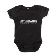 mathematics helps you count things-white Baby Body