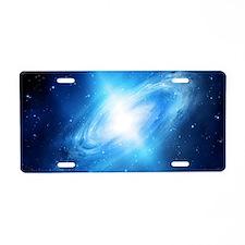Blue Galaxy Aluminum License Plate