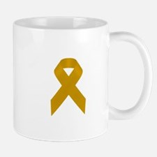 Gold Awareness Ribbon Mug