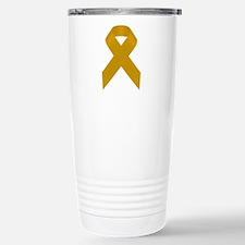 Gold Awareness Ribbon Travel Mug