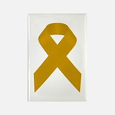 Gold Awareness Ribbon Rectangle Magnet