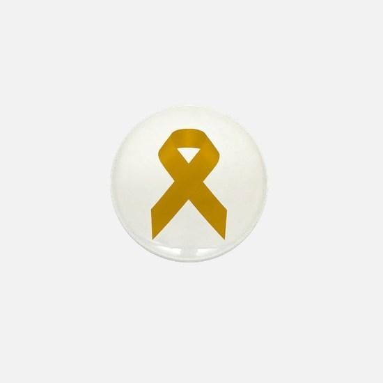 Gold Awareness Ribbon Mini Button