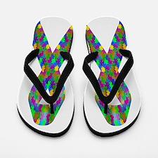 Puzzle (Autism) Awareness Ribbon Flip Flops