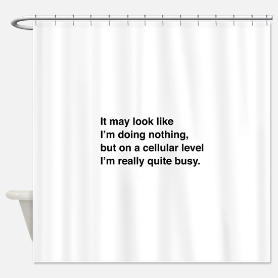Cells are busy Shower Curtain