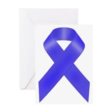 Blue Awareness Ribbon.png Greeting Cards