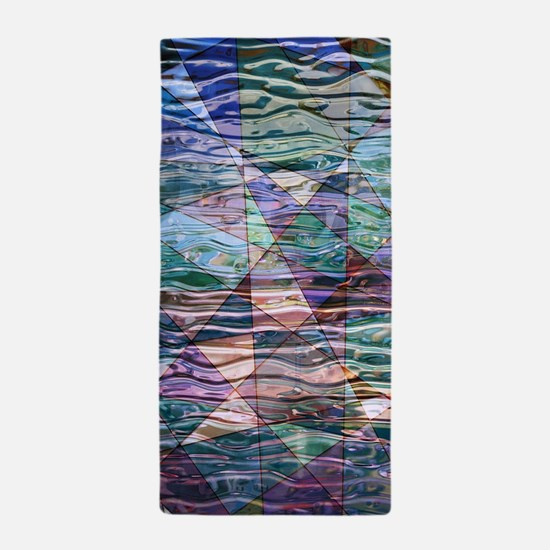 Unique Stained glass design Beach Towel