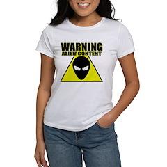 Warning Alien Content Tee
