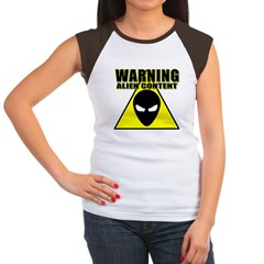 Warning Alien Content Women's Cap Sleeve T-Shirt