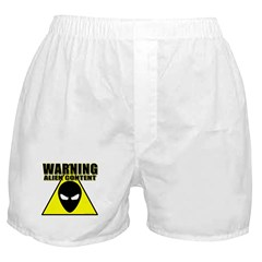 Warning Alien Content Boxer Shorts