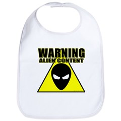 Warning Alien Content Bib